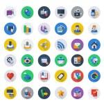 Social media icons set — Stock Vector