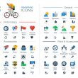 Flat style bicycle icons, — Stock Vector #47901385