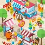 Ice cream street — Stock Vector