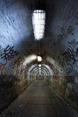 Abandoned tunnel — Stock Photo