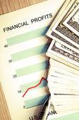 Financial profits — Stock Photo