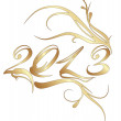 Golden new year 2013 — Stock Vector