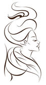 Beautiful woman icon — Stock Vector