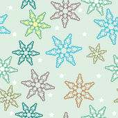 Seamless vintage snowflake background — Stock Vector