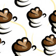 Coffee seamless background — Stok Vektör #40729557