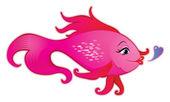 Female fish cartoon — Cтоковый вектор
