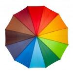 Colourful umbrella isolated on the white background — Stock Photo