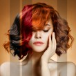 Beauty Portrait. Concept Coloring Hair - Stock Photo