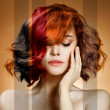 Stock Photo: Beauty Portrait. Concept Coloring Hair