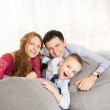 A young family at home — Stock Photo