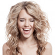 Beautiful Blonde Girl Scream — Stock Photo