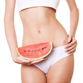 Perfect Slim Woman Body. Diet Concept — Stock Photo
