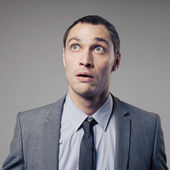 Confused Businessman — Stock Photo