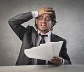 Stressed Businessman — Stock Photo