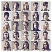 Wiele twarzy — Zdjęcie stockowe