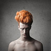 Strange Orange Hairstyle — Stock Photo