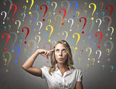 Young Woman Questions — Stock Photo