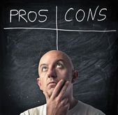 Life Pros and Cons — Stock Photo