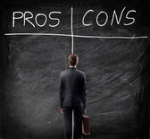Business Pros and Cons — Stock Photo