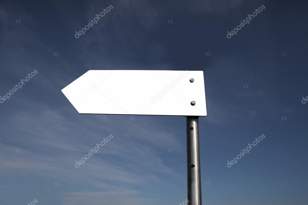 White signboard on a blue sky. — Stock Photo #12727164