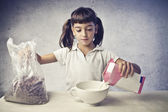 Child Having a Breakfast — Stock Photo