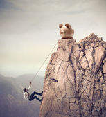 Climbing to the Success — Stok fotoğraf