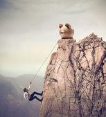 Klettern zum erfolg — Stockfoto
