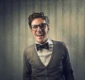 Mężczyzna moda śmiejąc się — Zdjęcie stockowe