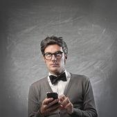 Modne mężczyzna decydując się — Zdjęcie stockowe