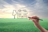 Disegno di una casa — Foto Stock