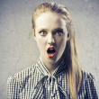 Stock Photo: Blonde Aghast