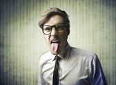 Sticking Out the Tongue — Stock Photo