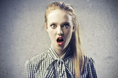 Blonde Aghast — Stock Photo