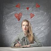 Denken van de liefde — Stockfoto