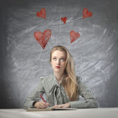 Thinking the Love — Stock Photo