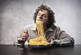 Tasting some Spaghetti — Stock Photo