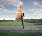 Many Boxes in the Countryside — Stock Photo