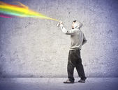 Spray Painting — Stock Photo