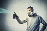 Spraying — Stock Photo