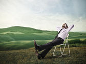 Relaxační podnikatel — Stock fotografie