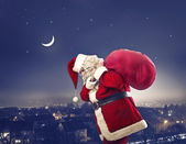 Santa Claus by Christmas Eve — Stock Photo