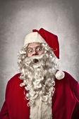 Förvånad jultomten — Stockfoto