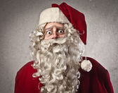 Orolig jultomten — Stockfoto