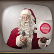 Advertising Santa Claus — Stock Photo