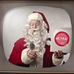 Advertising Santa Claus — Stock Photo