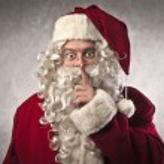Santa Claus Silence — Stock Photo