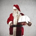 Santa Claus Present — Stock Photo