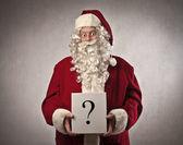 Santa Claus Question Mark — Stock Photo