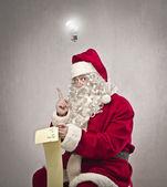 Santa claus neue idee — Stockfoto