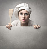 Astonished Cook — Stock Photo